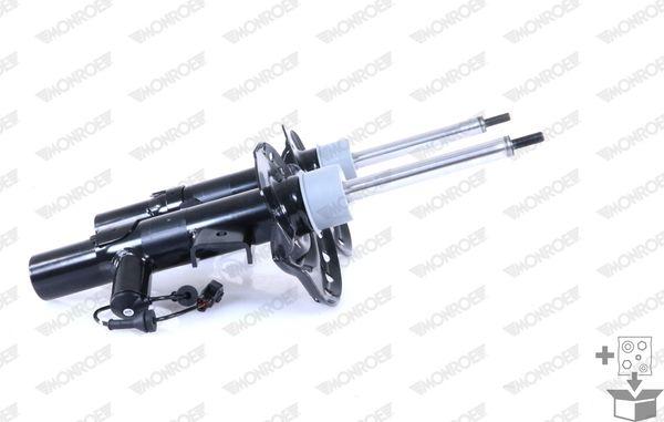 C2506 MONROE Gasdruck, Dämpfkraft elektronisch verstellbar, Federbein, oben Stift, unten Schelle Stoßdämpfer C2506 günstig kaufen