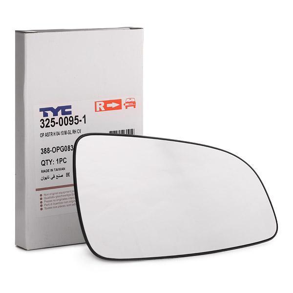 Vetro specchietto 325-0095-1 TYC — Solo ricambi nuovi