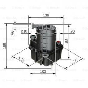 0 450 907 015 Kraftstofffilter BOSCH Test