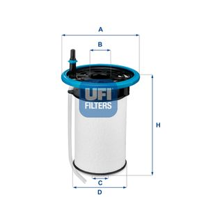 26.052.00 Filtro carburante UFI qualità originale
