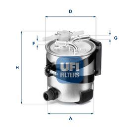55.418.00 UFI Höhe: 125,0mm Kraftstofffilter 55.418.00 günstig kaufen