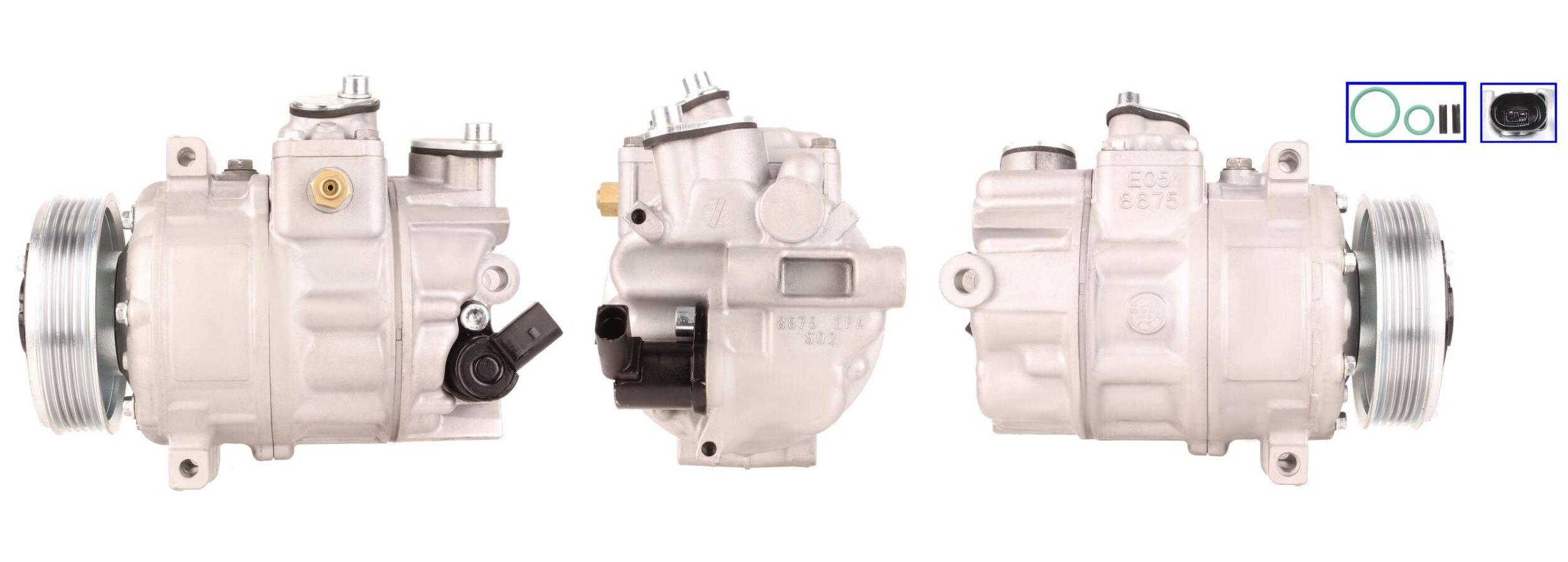 51-0123 ELSTOCK PAG 46, Kältemittel: R 134a, mit Dichtungen Riemenscheiben-Ø: 110mm, Anzahl der Rillen: 6 Klimakompressor 51-0123 günstig kaufen