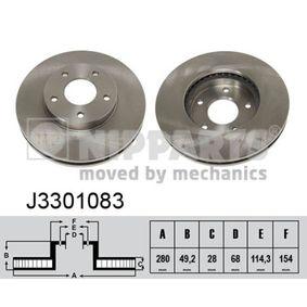 J3301083 NIPPARTS Innenbelüftet, lackiert Ø: 280mm, Lochanzahl: 5, Bremsscheibendicke: 28mm Bremsscheibe J3301083 günstig kaufen