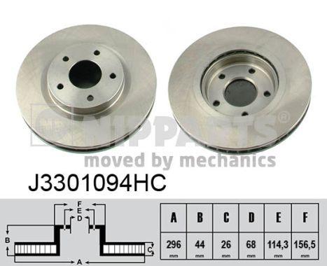 Scheibenbremsen NIPPARTS J3301094HC
