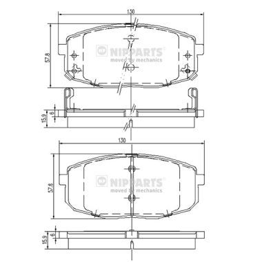 J3600319 Bremsbelagsatz NIPPARTS - Markenprodukte billig