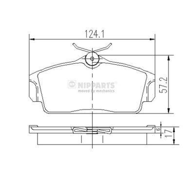 Bremsbelagsatz NIPPARTS J3601068