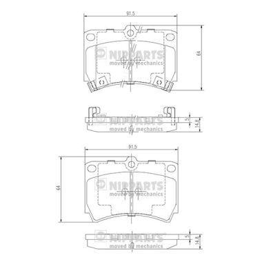 Bremsbelagsatz NIPPARTS J3603036