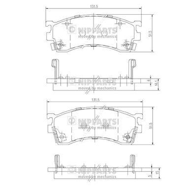 Original FORD USA Bremsklötze J3603038