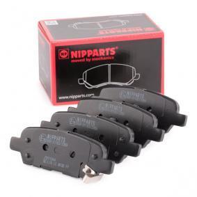 J3611044 NIPPARTS Dicke/Stärke: 14,2mm Bremsbelagsatz, Scheibenbremse J3611044 günstig kaufen