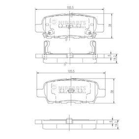 J3611044 Bremsbelagsatz, Scheibenbremse NIPPARTS - Markenprodukte billig