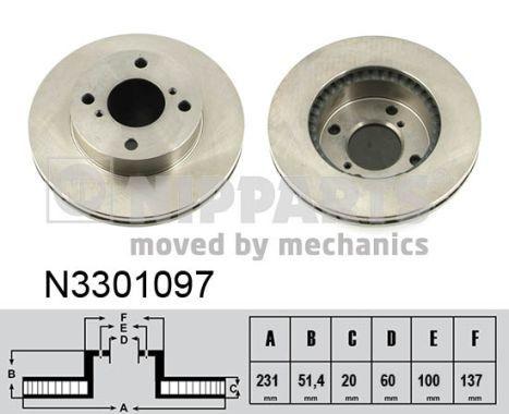 Bremsscheiben NIPPARTS N3301097