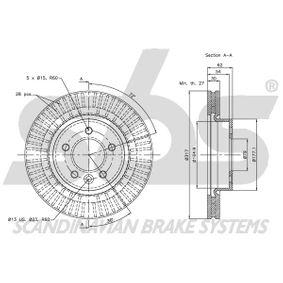 Achat de 1330859957 sbs Longueur: 328,00mm Flexible de frein 1330859957 pas chères