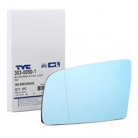 303-0090-1 TYC Vänster Spegelglas, yttre spegel 303-0090-1 köp lågt pris