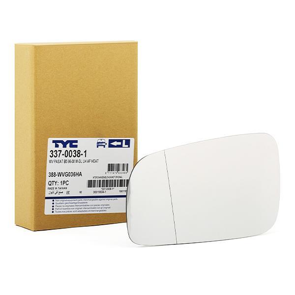 337-0038-1 TYC links Spiegelglas, Außenspiegel 337-0038-1 günstig kaufen
