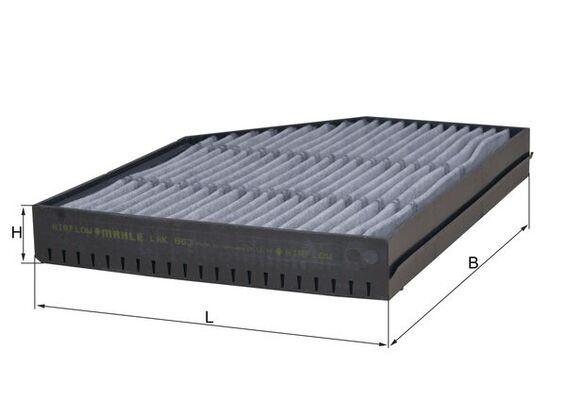 MAHLE ORIGINAL Filtr, wentylacja przestrzeni pasażerskiej do MERCEDES-BENZ - numer produktu: LAK 863