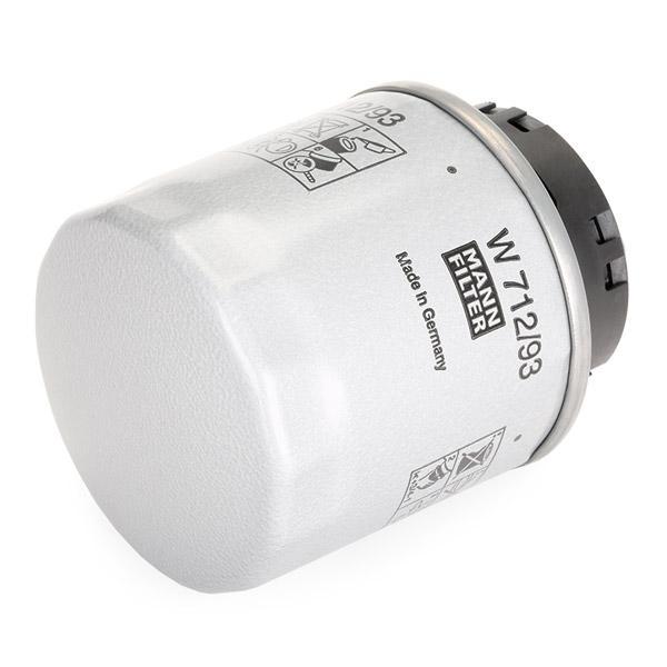 W 712/93 Filtre à huile MANN-FILTER - Produits de marque bon marché
