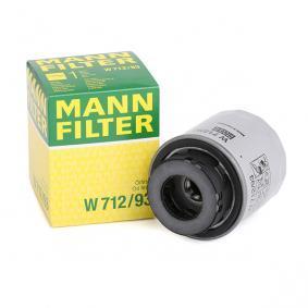 W 712/93 MANN-FILTER mit zwei Rücklaufsperrventilen Ø: 76mm, Höhe: 79mm Ölfilter W 712/93 günstig kaufen