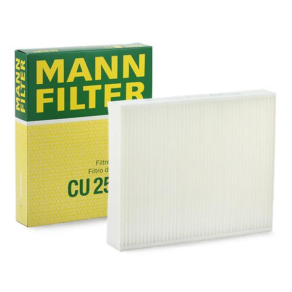 CU 25 001 MANN-FILTER Partikelfilter Breite: 198mm, Höhe: 41mm, Länge: 248mm Filter, Innenraumluft CU 25 001 günstig kaufen