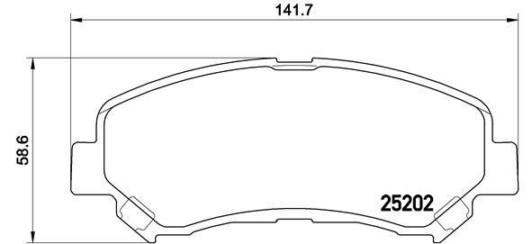 NISSAN QASHQAI 2015 Bremsklötze - Original BREMBO P 79 028 Höhe: 58,6mm, Breite: 141,7mm, Dicke/Stärke: 16,8mm