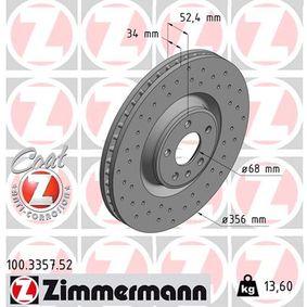 100.3357.52 Scheibenbremsen ZIMMERMANN - Markenprodukte billig