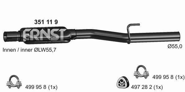Original MERCEDES-BENZ MSD Attrappe 351119