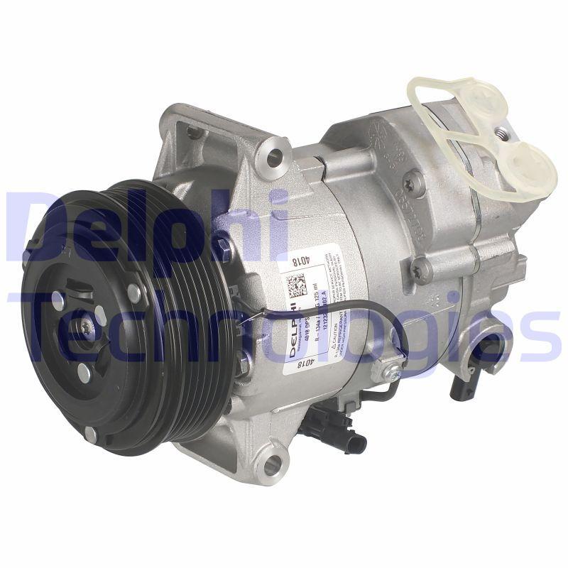 TSP0155988 DELPHI PAG 46, mit PAG-Kompressoröl Riemenscheiben-Ø: 110mm Kompressor, Klimaanlage TSP0155988 günstig kaufen