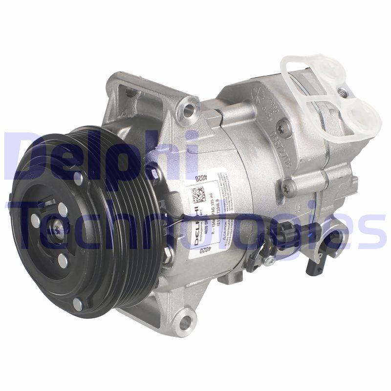 DELPHI: Original Kompressor Klimaanlage TSP0155990 (Riemenscheiben-Ø: 110mm)