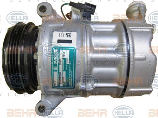 HELLA | Kompressor, klimaanlæg 8FK 351 272-221
