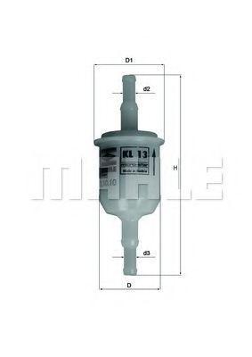KL13 MAHLE ORIGINAL Filtru conducta Înaltime: 97mm, Diametru carcasa: 30mm Filtru combustibil KL 13 cumpără costuri reduse