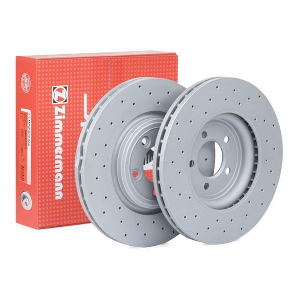 JAGUAR XK 2010 Scheibenbremsen - Original ZIMMERMANN 290.2263.52 Ø: 326mm, Felge: 5-loch, Bremsscheibendicke: 30mm
