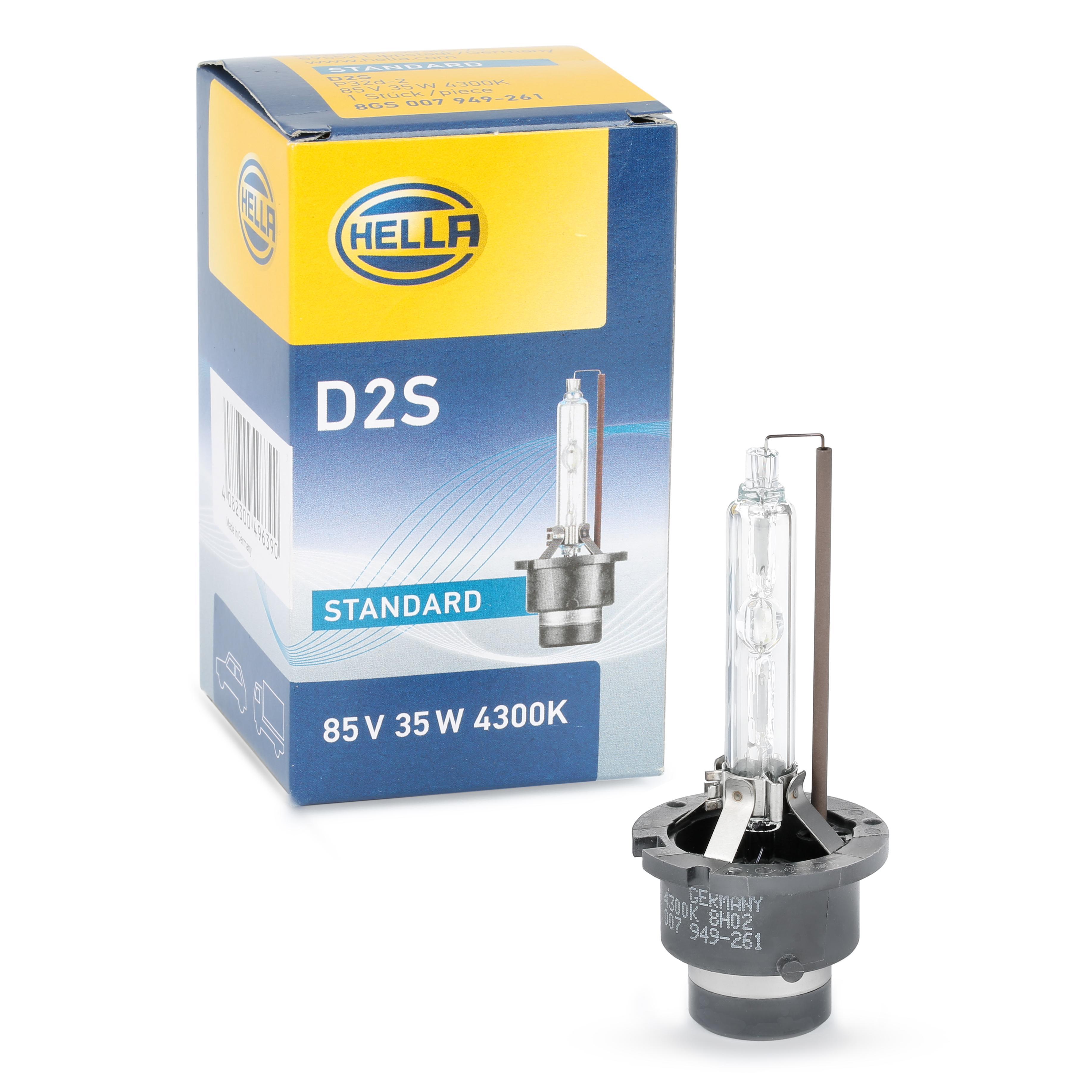 8GS 007 949-261 HELLA Glühlampe, Fernscheinwerfer für MERCEDES-BENZ online bestellen