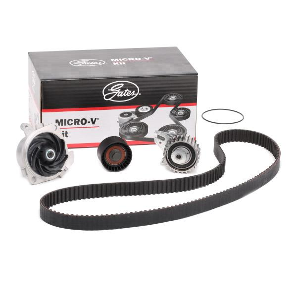 ALFA ROMEO 156 2005 replacement parts: Water pump and timing belt kit GATES KP15653XS at a discount — buy now!