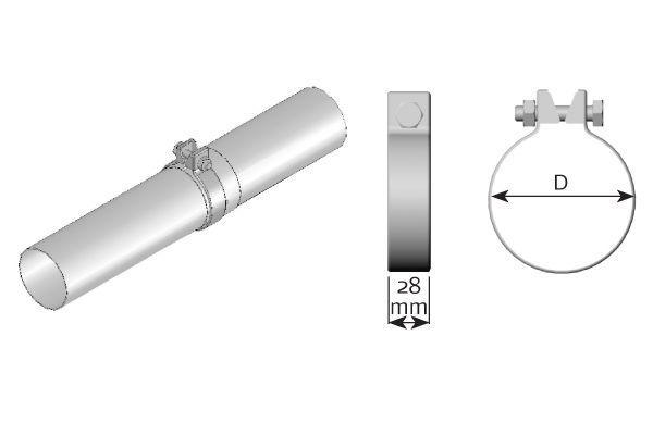 99565 DINEX Klemmstück, Abgasanlage - online kaufen