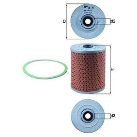 77020852 MAHLE ORIGINAL Filtereinsatz Innendurchmesser 2: 13,6mm, Ø: 84,0mm, Höhe: 109,8mm, Höhe 1: 105,0mm Ölfilter OX 79D günstig kaufen