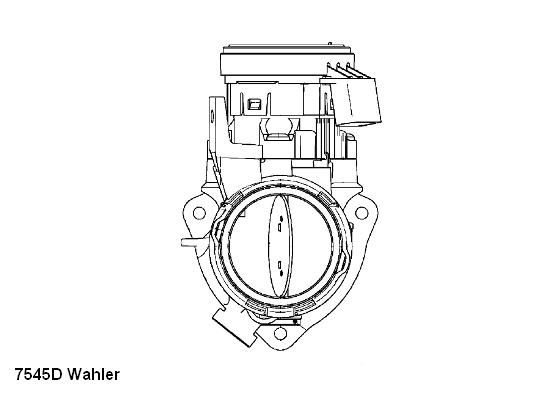 Купете E2798832007K9 WAHLER с уплътнение Корпус на дроселовата клапа 7545D евтино