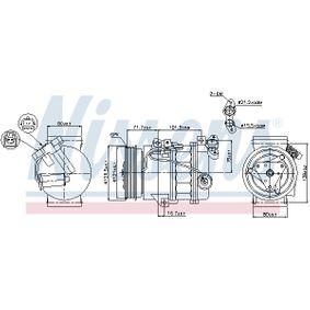 89386 Kompressor, Klimaanlage NISSENS in Original Qualität