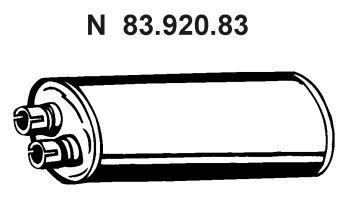 83.920.83 EBERSPÄCHER Endschalldämpfer für MERCEDES-BENZ online bestellen
