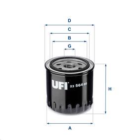 23.564.00 UFI mit einem Rücklaufsperrventil Innendurchmesser 2: 62,0mm, Ø: 86,0mm, Außendurchmesser 2: 72,0mm, Höhe: 90,0mm Ölfilter 23.564.00 günstig kaufen