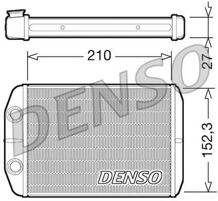 OE Original Heizungskühler DRR09073 DENSO