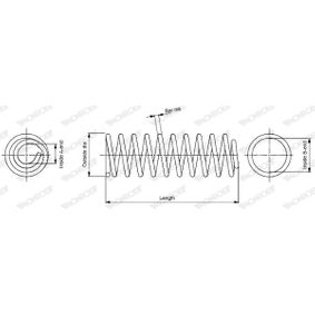 SP2102 MONROE L: 365mm, Ø: 105,0mm Spiralfjäder SP2102 köp lågt pris
