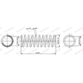 SP2107 MONROE L: 437mm, Ø: 133,4mm Spiralfjäder SP2107 köp lågt pris