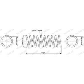 SP2108 MONROE L: 434mm, Ø: 132,461mm Spiralfjäder SP2108 köp lågt pris