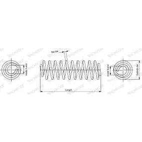 SP3403 MONROE L: 240mm, Ø: 170,0mm Spiralfjäder SP3403 köp lågt pris