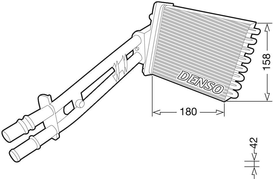 OE Original Wärmetauscher Heizung DRR09043 DENSO