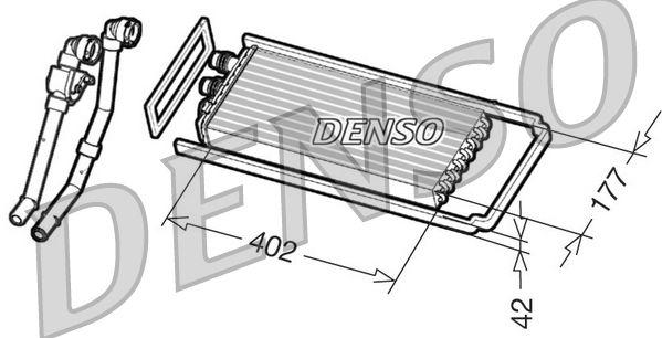 Wärmetauscher, Innenraumheizung DENSO DRR12101 mit 22% Rabatt kaufen