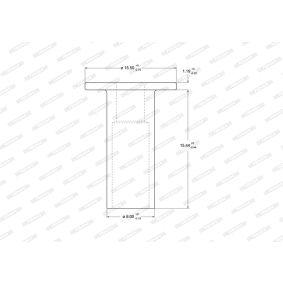DDF2741 FERODO Voll Ø: 252mm, Lochanzahl: 4, Bremsscheibendicke: 9mm Bremsscheibe DDF274-1 günstig kaufen