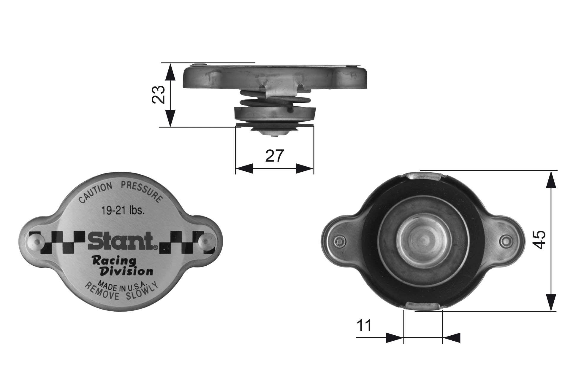 Kühlerverschlussdeckel GATES RC10361