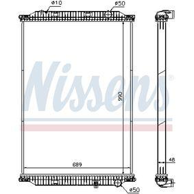 Kühler, Motorkühlung NISSENS 637850 mit 18% Rabatt kaufen