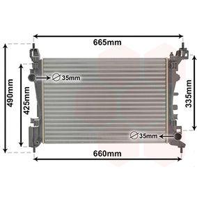 37002574 VAN WEZEL Kühlrippen mechanisch gefügt, Aluminium Kühler, Motorkühlung 37002574 günstig kaufen