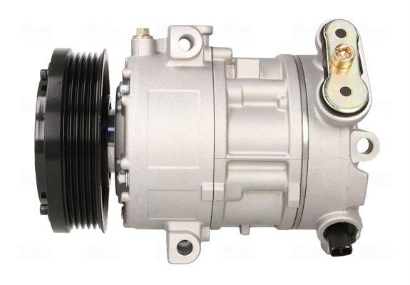 Klimakompressor Opel Corsa D 2012 - NISSENS 89100 (Riemenscheiben-Ø: 110mm, Anzahl der Rillen: 5)